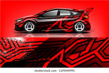 tuning car wrap design  for branding  services  company.