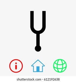 tuning fork icon stock vector illustration flat design