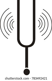 tuning fork vector icon