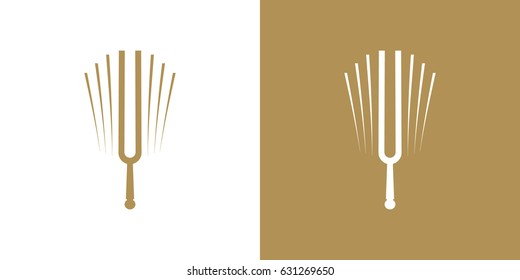 Tuning fork vector image, standard of the musical world, musical symbol