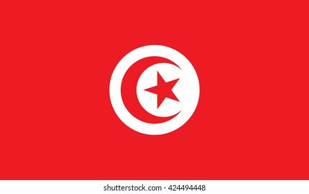 Tunisia flag. Flat illustration of Tunisia flag vector for any web design