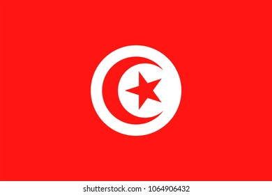 Tunisia Flag Vector Icon - Illustration