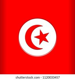 Tunisia Flag Vector illustration