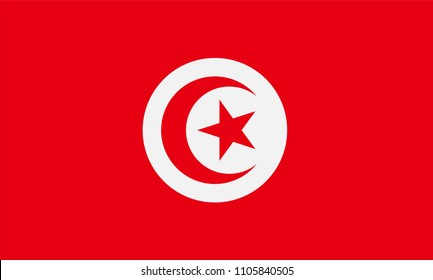 Tunisia Flag, Vector image and icon