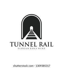 Tunnel Rail Minimalist Logo