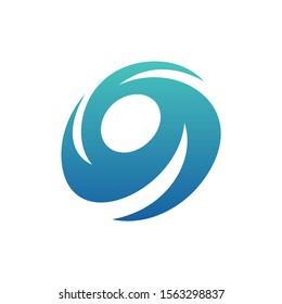 Turbine Circle Logo Design Concept Vector. Vortex Logo Template. Icon Symbol. Illustration