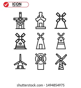 turbine icon isolated sign symbol vector illustration - Collection of high quality black style vector icons