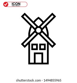 turbine icon isolated sign symbol vector illustration - high quality black style vector icons