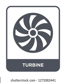 turbine icon vector on white background, turbine trendy filled icons from Electronic devices collection, turbine simple element illustration