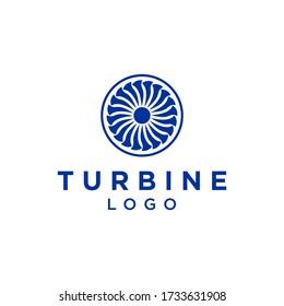 turbine logo design vector illustration of airplane machine
