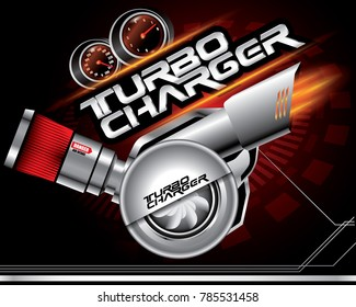 TURBO CHARGER CONCEPT VECTOR