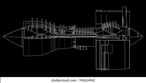 Jet Engine Blueprint Images, Stock Photos & Vectors