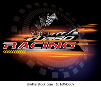 TURBO RACING ICON CONCEPT VECTOR