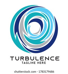 Turbulence vector in modern style, perfect for Cleaning Service and Electric business logo, IT Service System Protection Company logo