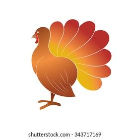 Turkey Bird Profile Icon Thanksgiving Day Stock Vector Royalty Free 343717169
