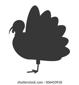 turkey bird thanksgiving icon vector illustration design
