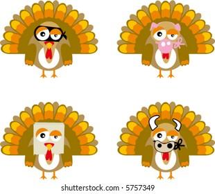 turkey cartoon vector comic the farm