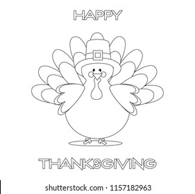 Turkey Coloring Page Images Stock Photos Vectors Shutterstock