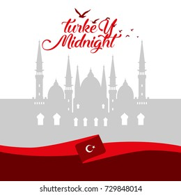 Turkey cover design, Turkey skyline