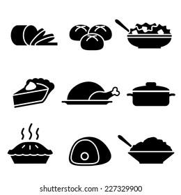 Turkey Dinner Icons
