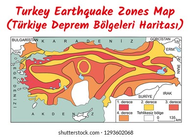 Turkey Earthquake Zones Map