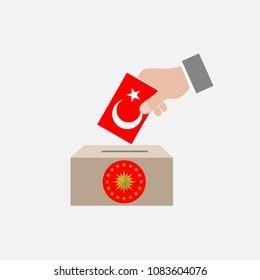 Turkey Elections Vote Box Vector Work, April 30, 2018, istanbul, Turkey
