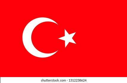 Turkey   flag. Simple vector Turkey   flag
