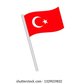 Turkey   flag. Simple vector Turkish flag