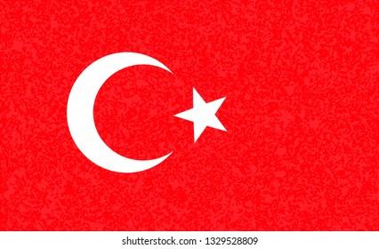 Turkey   flag. Simple vector Turkish flag