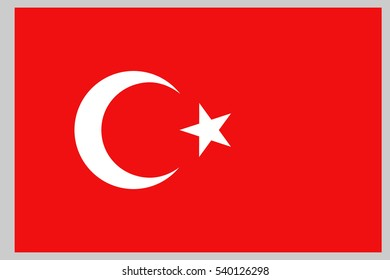 Turkey flag. Turkish flag.
