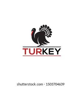 Turkey graphic logo templates, vector illustration.