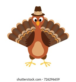 Turkey Happy Thanksgiving vector