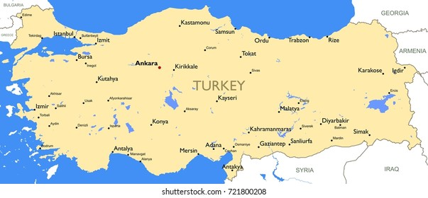 turkey map vector detailed color turkey map - Detailed Pictures To Color