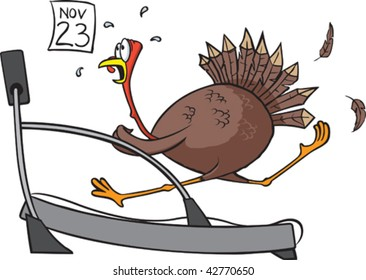 Turkey on a treadmill