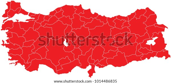 Turkey provinces map. All province maps are available as separate usable vectors.
