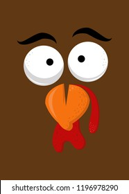 turkey thanksgiving character funny humor colorful animals