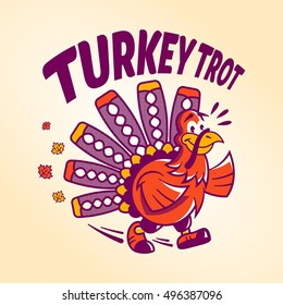 A turkey trot logo for thanksgiving