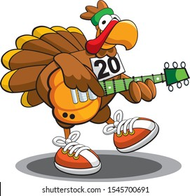 Turkey Trot Runner With Guitar