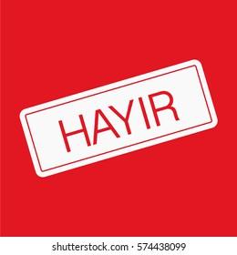Turkey vote vector sign