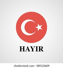 Turkey voting  NO (hayir)