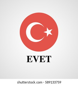 Turkey voting YES (evet)