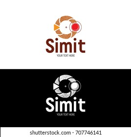 Turkish bagel-simit vector logo design