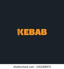 Turkish doner-kebab vector logo design