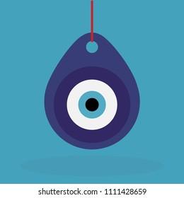 Turkish evil eye amulet pendant