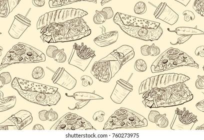 Turkish Fast Food Pattern