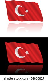 Turkish Flag Flowing