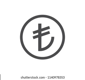 Turkish lira icon.  Currency icon.