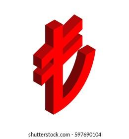 Turkish lira sign. Financial Currency Symbols Turkey.