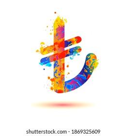 turkish lira (TL) vector sign on white background