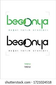 Turkish logo design together natural design (begonia)